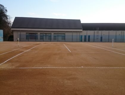 テニスコート設置工事