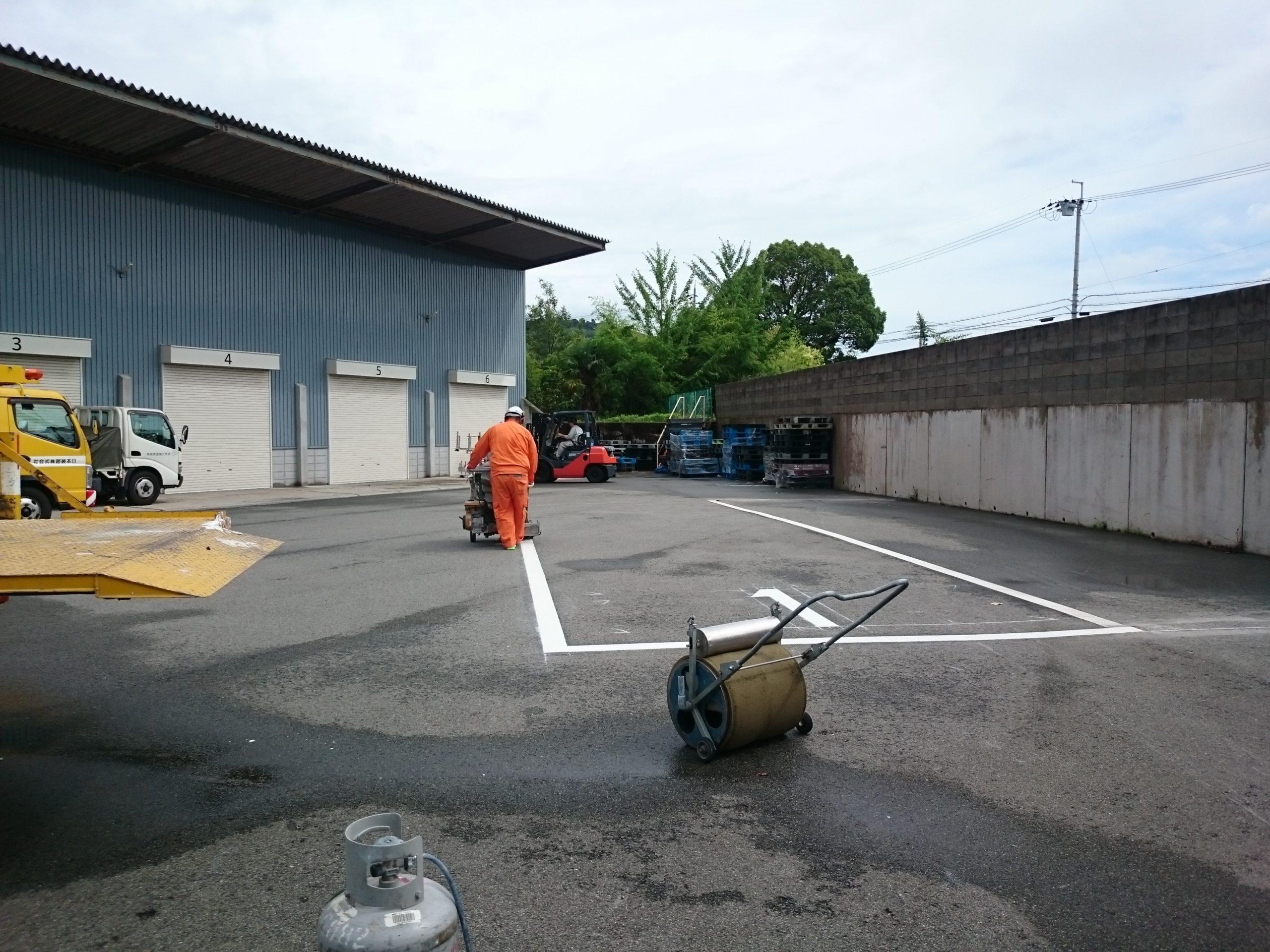 駐車場ライン設置